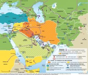 carte moyen orient 300x258 Le lobby pétrolier carbure pour sauver son influence